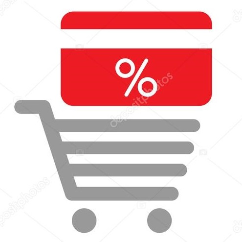 depositphotos 107201542 stock illustration discount card on shopping card